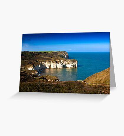 Coastal View Flamborough Head - East Yorks. Greeting Card