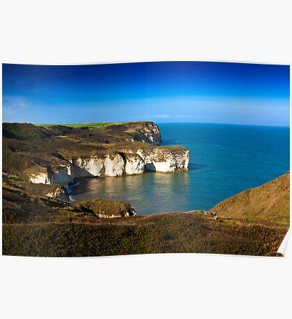 Coastal View Flamborough Head - East Yorks. Poster