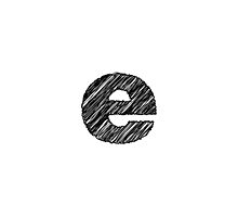 Sketchy Letter Series - Letter E (lowercase) by JHMimaging