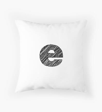 Sketchy Letter Series - Letter E (lowercase) Throw Pillow