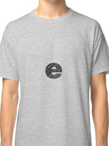Sketchy Letter Series - Letter E (lowercase) Classic T-Shirt