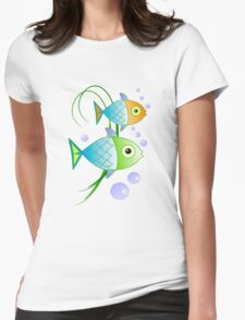 Blob says the fish Womens Fitted T-Shirt