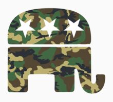 Camouflage Republican Elephant by rightwinggifts
