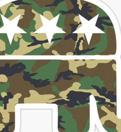 Camouflage Republican Elephant Sticker