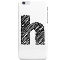 Sketchy Letter Series - Letter H (lowercase) iPhone Case/Skin