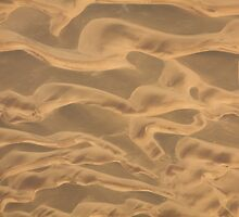 Sand blown silk ribbons by Owed to Nature