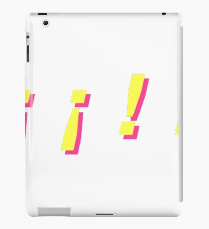 yellow pink iPad Case/Skin