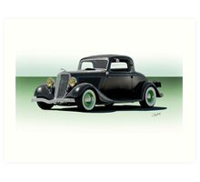 1934 Ford 'Fifties Style' Hot Rod Coupe Art Print