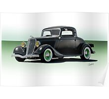 1934 Ford 'Fifties Style' Hot Rod Coupe Poster
