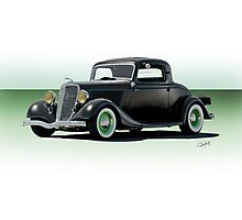 1934 Ford 'Fifties Style' Hot Rod Coupe Photographic Print