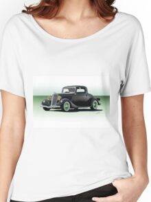 1934 Ford 'Fifties Style' Hot Rod Coupe Women's Relaxed Fit T-Shirt
