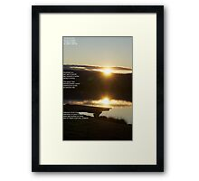 Poetry in a sunset Framed Print