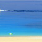 Ship and Shade - Myrtos Beach by Honor Kyne
