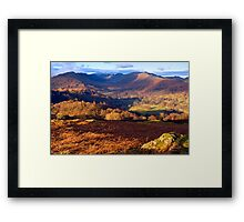Fairfield from Loughrigg Fell - The Lake District Framed Print