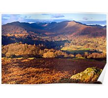 Fairfield from Loughrigg Fell - The Lake District Poster