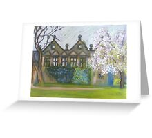 Cherryblossomtime at East Riddlesden Hall Greeting Card