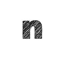 Sketchy Letter Series - Letter N (lowercase) by JHMimaging