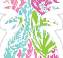 Lilly Pulitzer Inspired Pineapple Let's Cha Cha Sticker