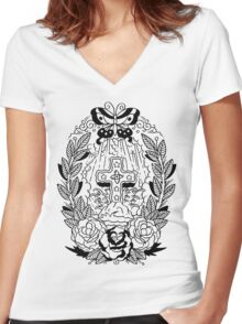 Rock of Ages Lines Women's Fitted V-Neck T-Shirt