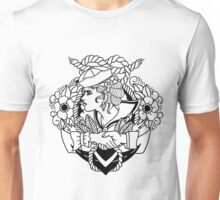 Navy Pinup Lines Unisex T-Shirt