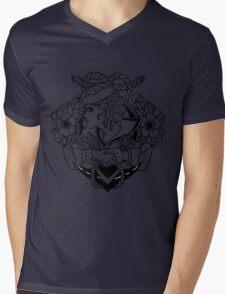 Navy Pinup Lines Mens V-Neck T-Shirt