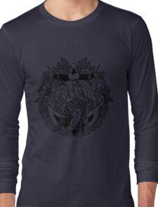 Mermaid Anchor Lines Long Sleeve T-Shirt