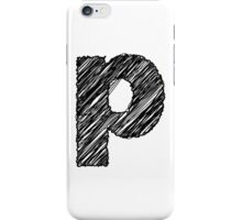Sketchy Letter Series - Letter P (lowercase) iPhone Case/Skin