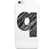 Sketchy Letter Series - Letter Q (lowercase) iPhone Case/Skin