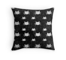 Kitties | Black Throw Pillow