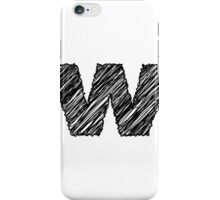 Sketchy Letter Series - Letter W (lowercase) iPhone Case/Skin