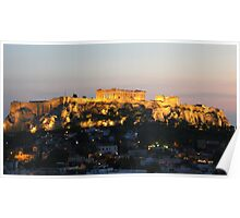 view from our window at the Astor hotel in Athens Poster