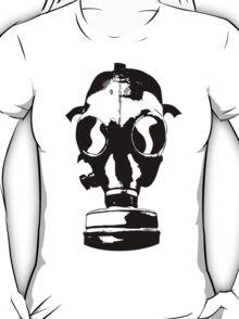 gasmask stencil black T-Shirt