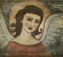 Blue-eyed angel (retro painting) by AngelsTrail