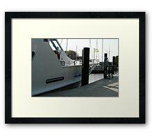 Ship's bow Framed Print