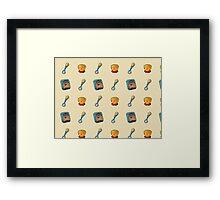 Broken Age pattern - big   Framed Print