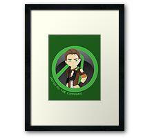 Axton as the Commando  Framed Print