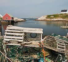 Peggy's cove through a lobster trap by Robert Kelch, M.D.