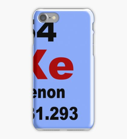 Xenon Periodic Table of Elements iPhone Case/Skin