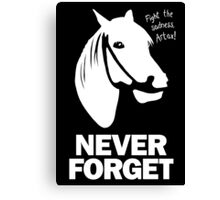 NEVER FORGET - Artax and the Swamps of Sadness Canvas Print