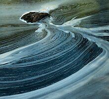 swirls below silverbridge - scotland by Helen Suzanne Sharratt