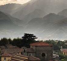 Town of Barga, Tuscany by Catherine Ames