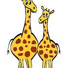 Cute Giraffes by lesrubadesigns