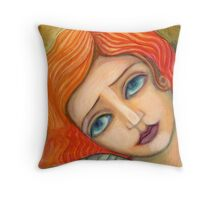 Melancholic angel Throw Pillow