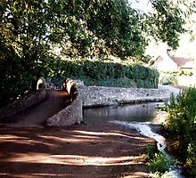 The Packhorse Bridge at Allerford, Dunster, West Somerset by Andrew  Bailey