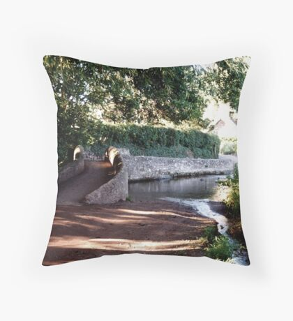 The Packhorse Bridge at Allerford, Dunster, West Somerset Throw Pillow