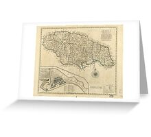 Old Map of Jamaica (1770) Greeting Card