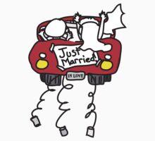Just Married Getaway Car by lesrubadesigns