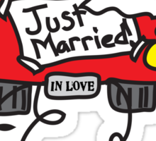 Just Married Getaway Car Sticker