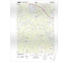 Massachusetts  USGS Historical Topo Map MA Norton 20120524 TM Poster