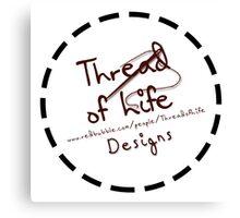 Thread of Life Sticker Logo Canvas Print